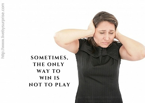 The Only Way to Win is Not to Play