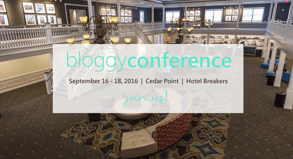 Bloggy Conference - Cedar Point Ohio Sept 16-18, 2016